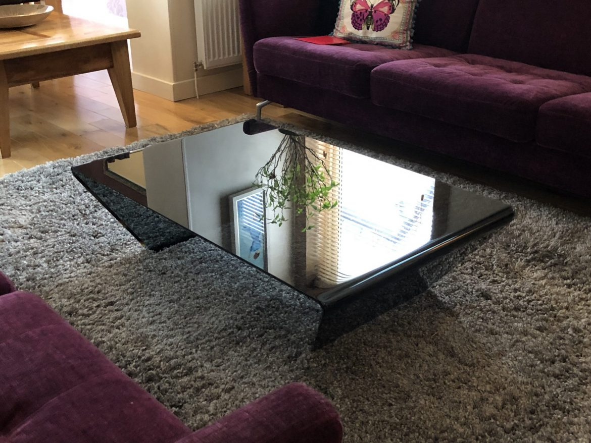 Rubino Black Glass Coffee Table