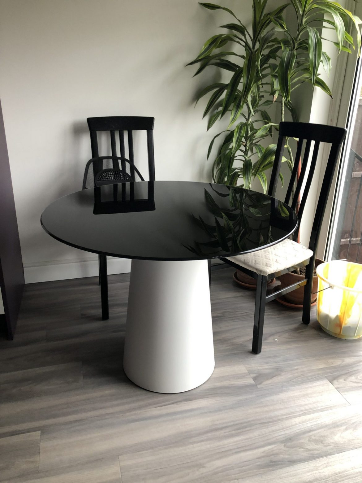 Totem Black and White Dining Table