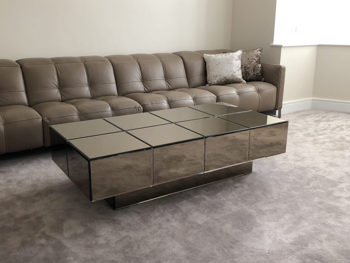 Bevelled Bronze Mirror coffee Table