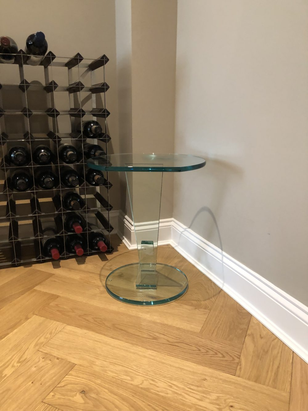 Glass Table round side table