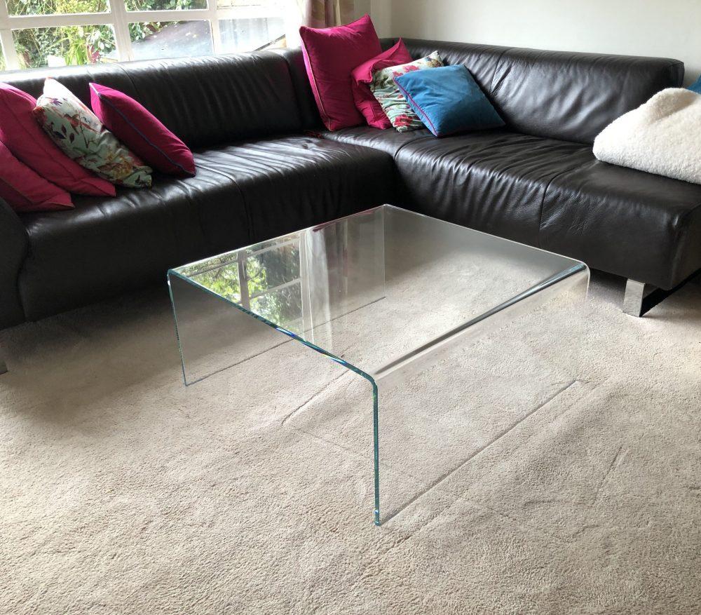 Raj Glass ad metal coffee table