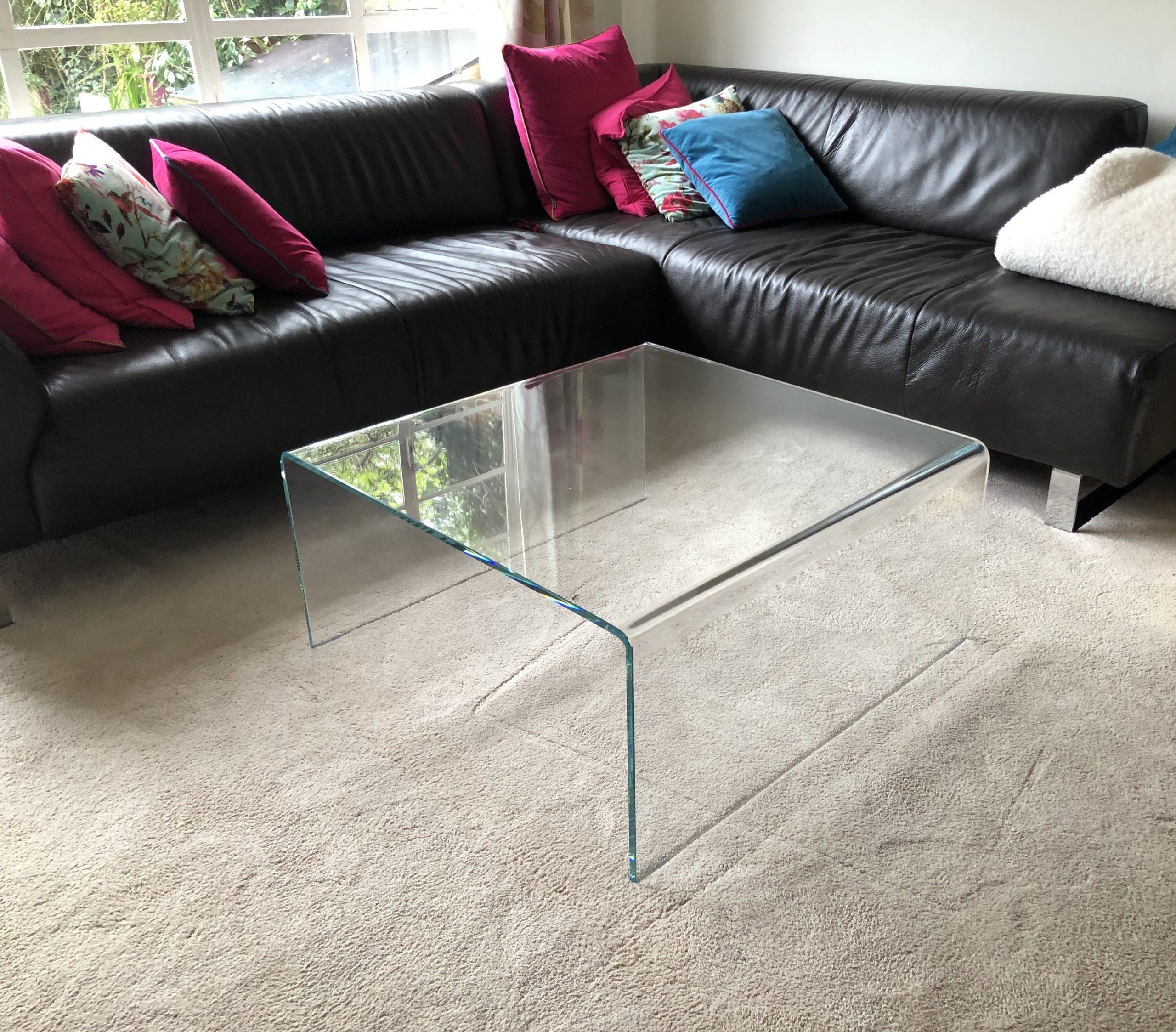 Raj Glass ad metal coffee table
