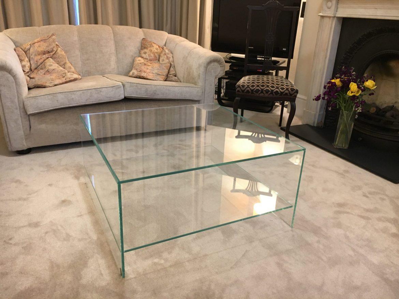 Coffee Table with Glass Shelf
