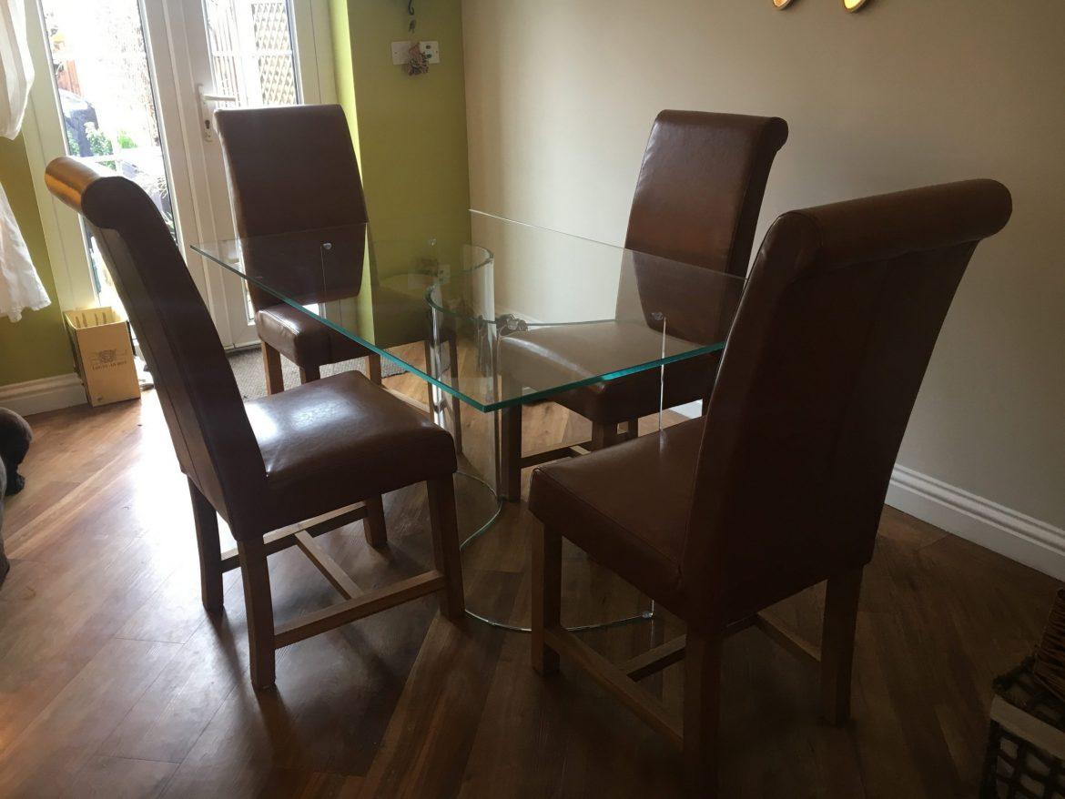 Curved Glass Dining Table