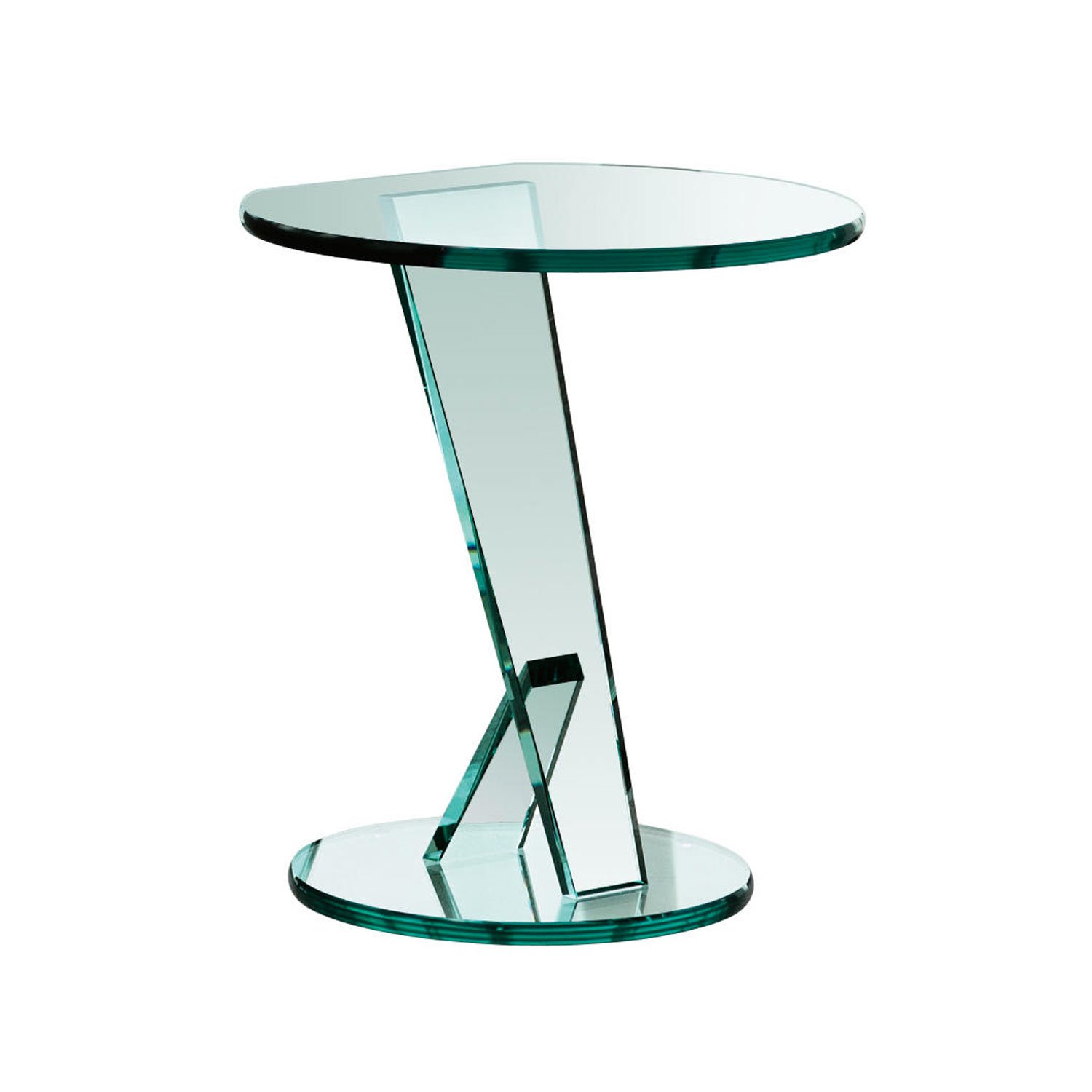 Nicchio small glass table klarity glass furniture for Glass furniture