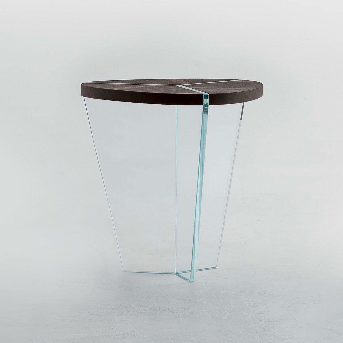 Aida Wood And Glass Side Table Klarity Glass Furniture