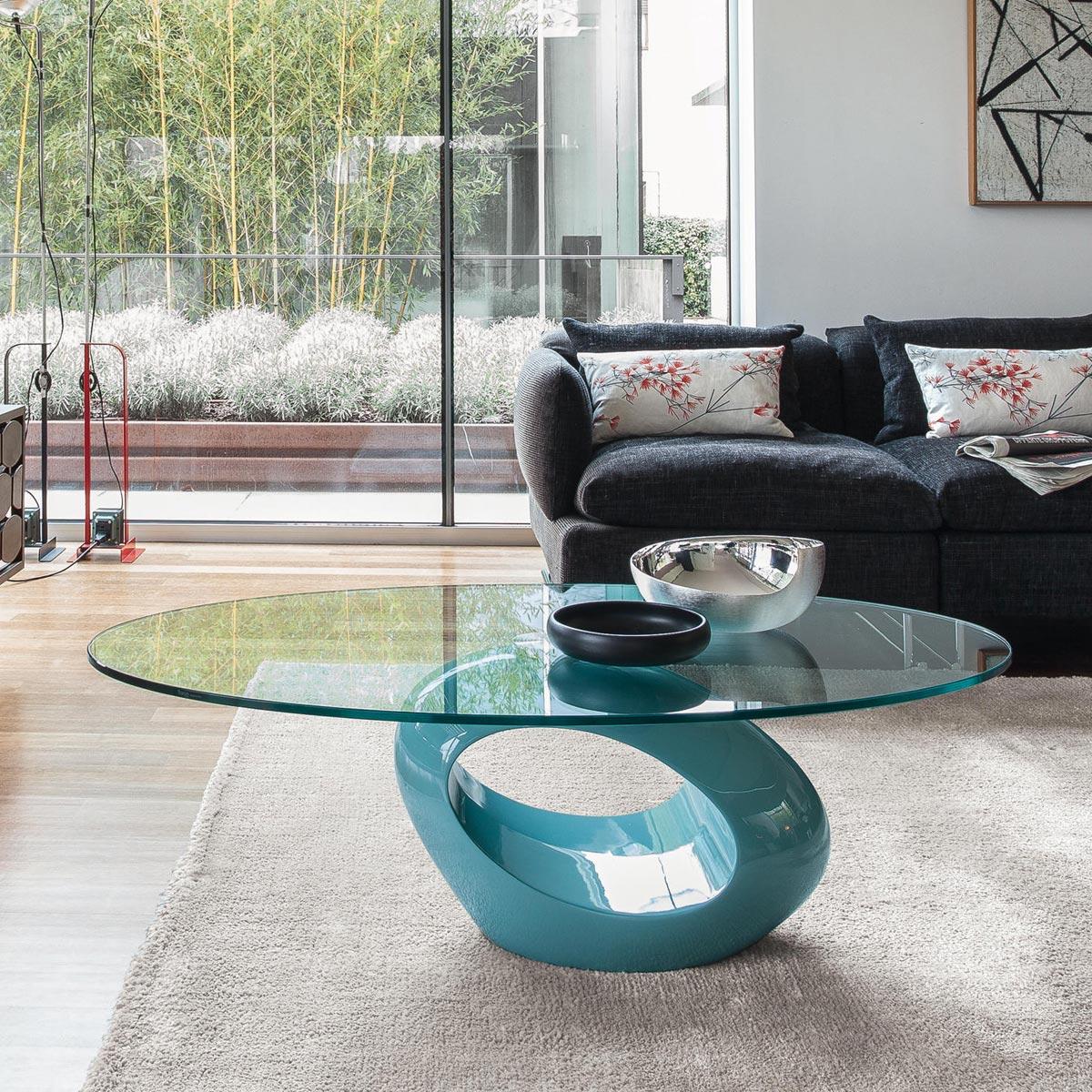 Glass Top Coffee Table - Dubai - Tonin Casa