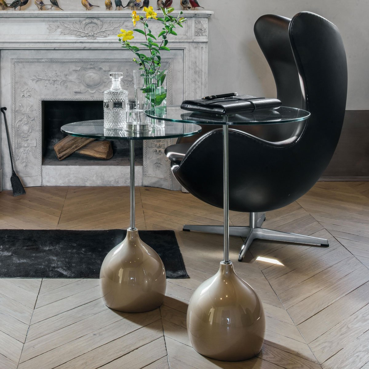 Adachi Glass And Metal Table Klarity Glass Furniture