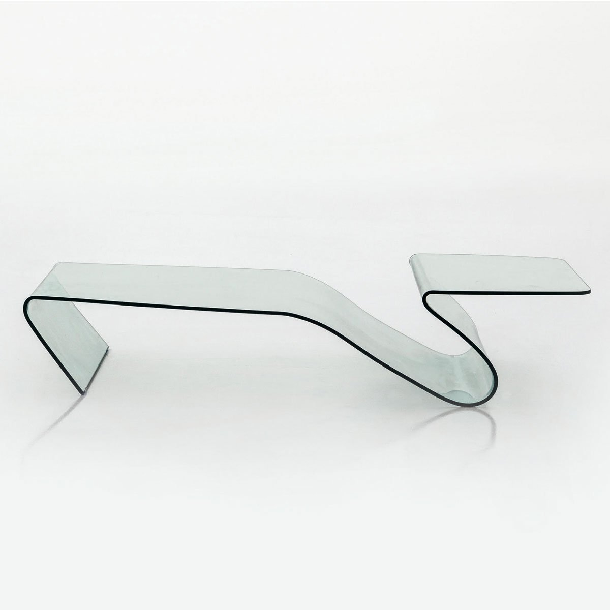 Alaric Curved Glass Coffee Table Klarity Glass Furniture