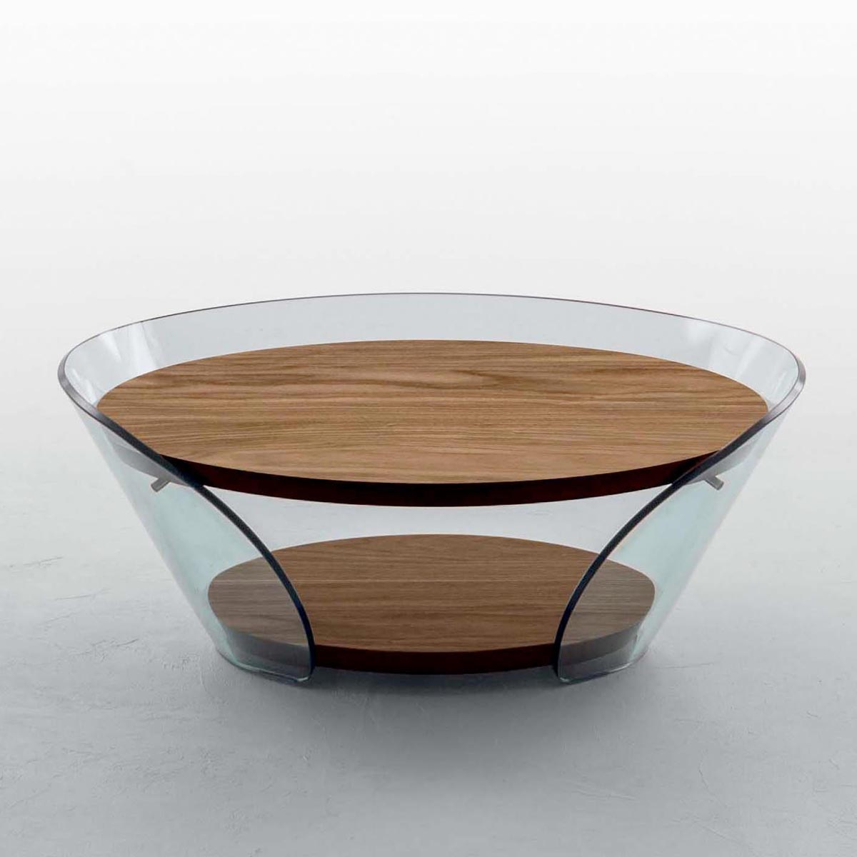 Raffaello Curved Glass Coffee Table Klarity Glass