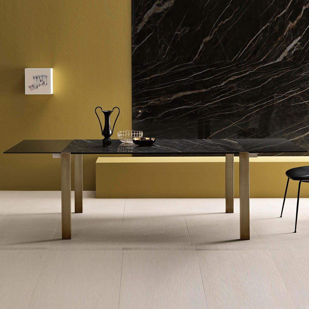 Livingstone Ceramic Dining Table By Tonelli Klarity Glass