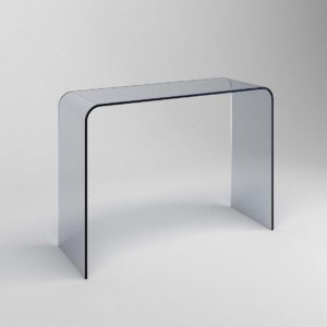Klarity / Glass Furniture Shop / Glass Console Tables / Classic Curved  Glass Console Table