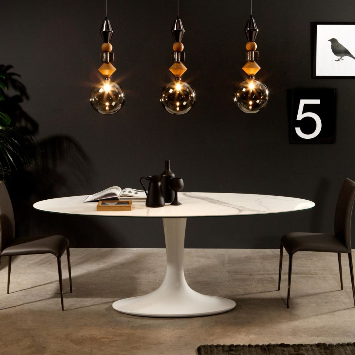 Imperial Contemporary Glass Top Table