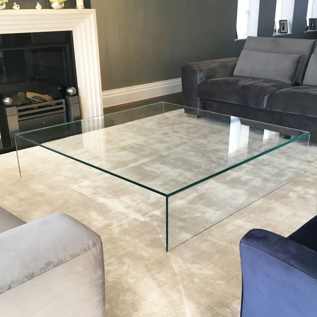 glass coffee table - large