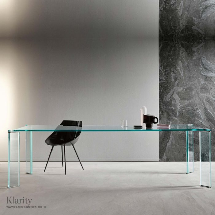 can can glass dining table tonelli